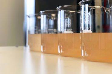 Waste,Water,Sample,In,Beakers,Coagulation,And,Flocculation,Method,With